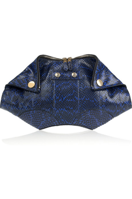 Alexander-McQueen-De-Manta-Faithful-snakeskin-clutch